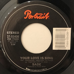 SADE:YOUR LOVE IS KING(LABEL SIDE-A)