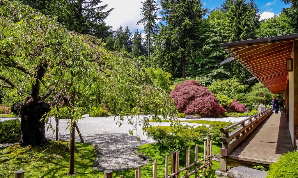 Japanese Garden Portland Oregon The Flat Garden Which In Flickr