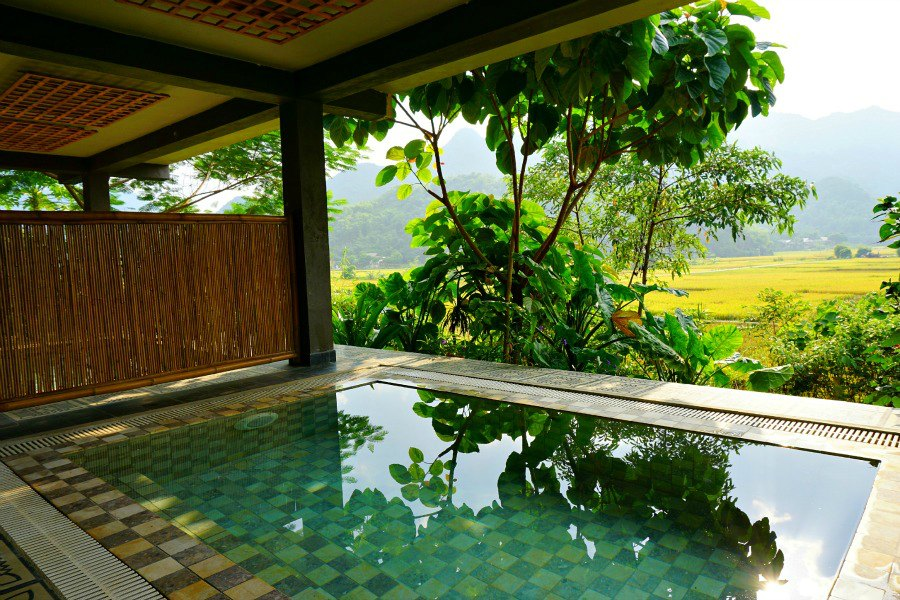 Mai Chau Ecolodge Private Plunge Pool