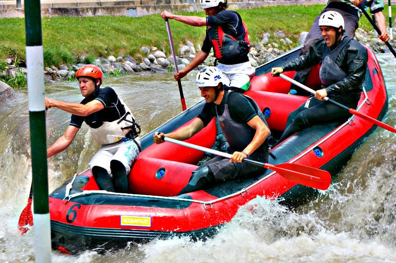 Rafting in the Olympic Park in the Pyrenees, Spain