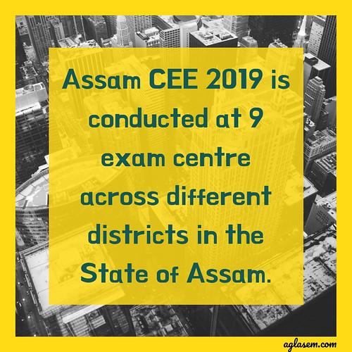 Assam CEE 2019 Admit Card/ Hall Ticket - Download Here