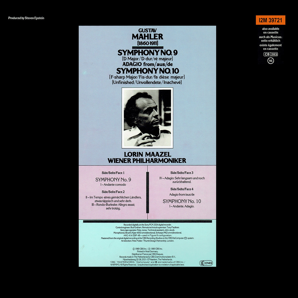 Gustav Mahler - Symphonies Nos 9 & 10