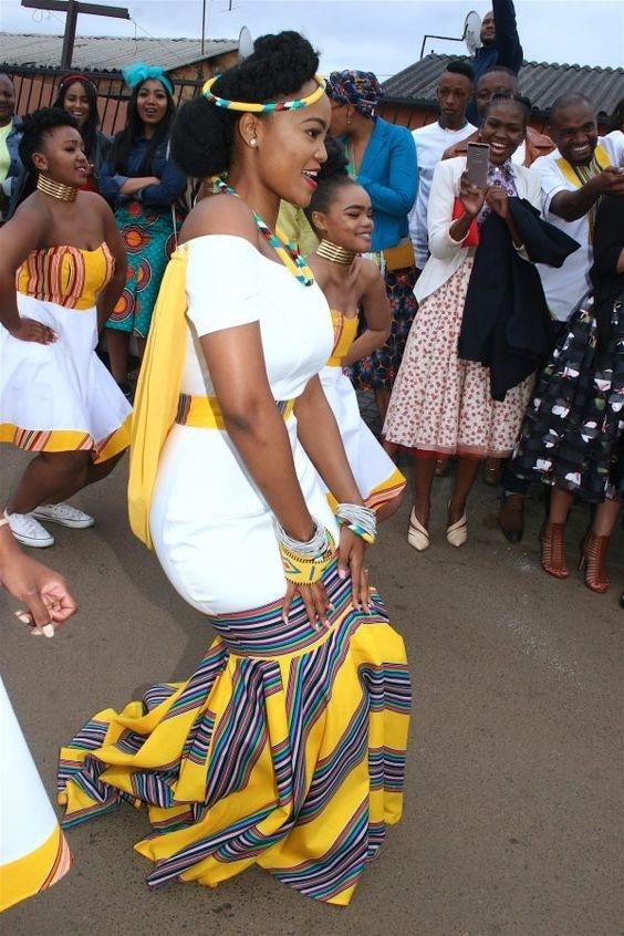 f98428f3cca Elegant Tswana Wedding Woman Dresses 2019 - Latest African