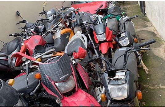 Justiça leva a leilão 56 motos alvos de processos criminais encerrados em Cametá, motos a leilão