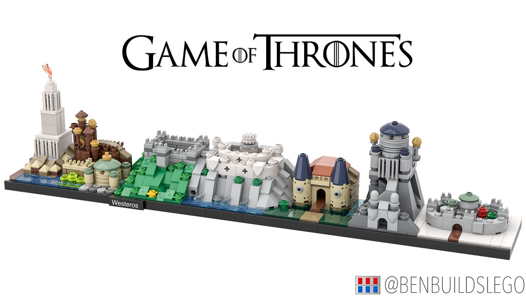 Lego Game of Thrones - Westeros Skyline MOC