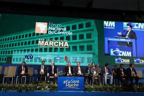 Presidente do TCU José Mucio na marcha da CNM - 11.4.2019