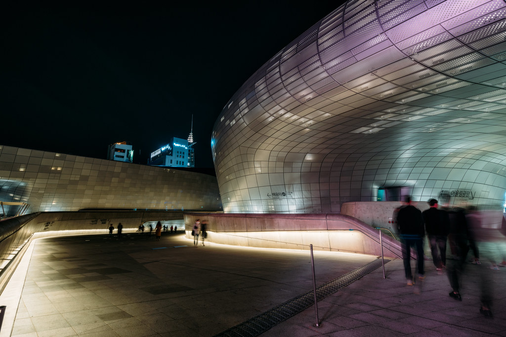 Modern Architecture Of The Dongdaemun Design Plaza Ddp A