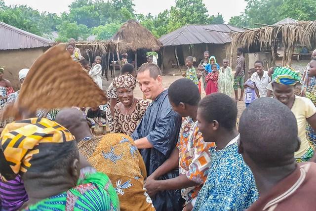 Sele en una danza Gelede en Benín