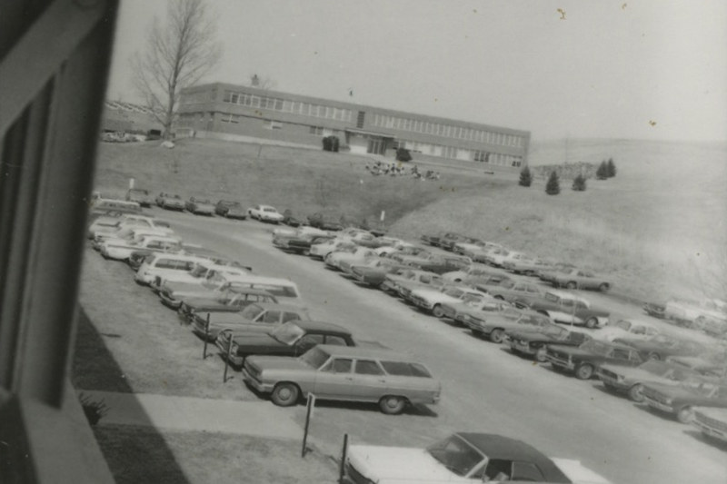 A view from the W.B. Young building, then and now
