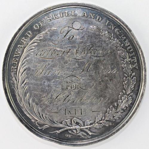 1841 Franklin Institute Medal reverse