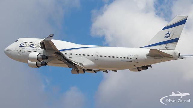 TLV - El Al Boeing 747-400 4X-ELB