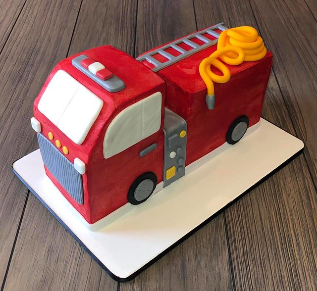 Fire Truck Cake by Lisa Marie's
