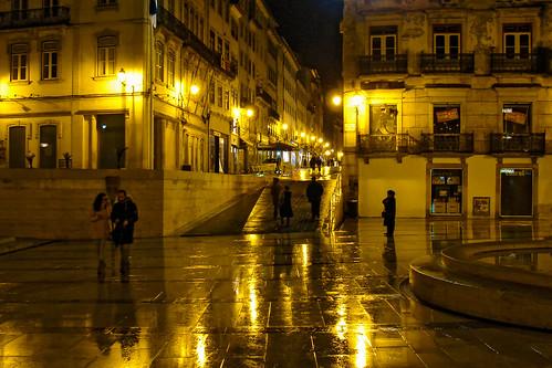 rainy rain lights coimbra portugal portuguese cityscape street photographer flickr outdoor evening dark maxtuguese explore city lamp life lifestyle night sony urban scenery perfect view mood