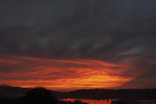 sunrise sky clouds cloudsstormssunsetssunrises merimbula reflection