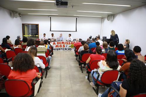 Audiência pública para debater as demissões da MGS - 10ª Reunião Extraordinária - Comissão de Direitos Humanos e Defesa do ConsumidorAudiência pública para debater as demissões da MGS, os impactos nas políticas municipais de emprego, trabalho e renda e se