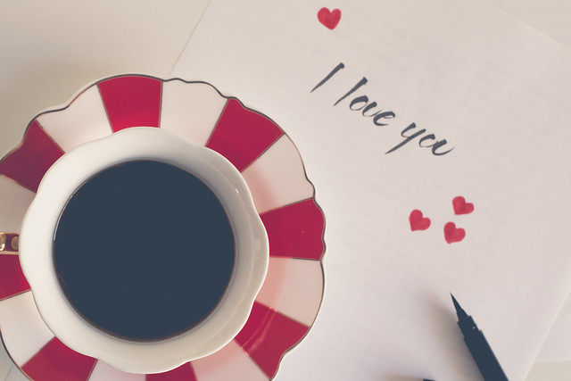 I love you [with a coffee] _ week 19/52 My diary: a letter