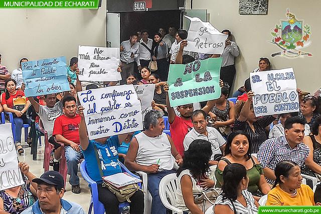Pueblo de Echarati le dice ¡no a posible suspensión de Alcalde Boris Chávez!
