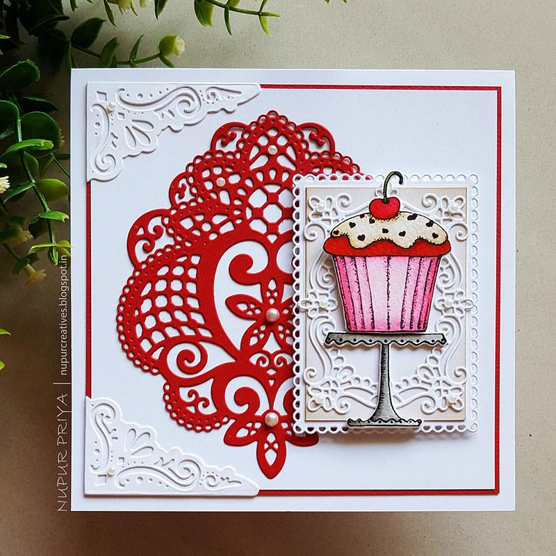 Zero Calorie Red Velvet Cupcake Card 1