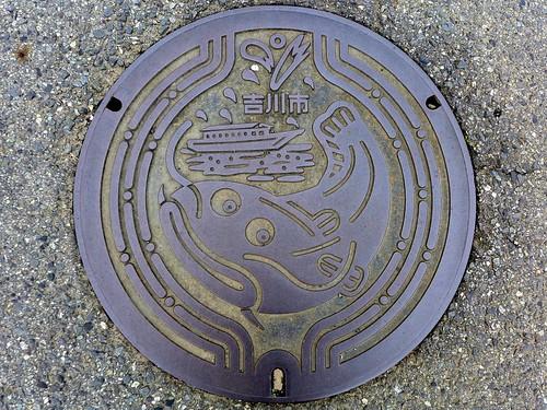 Yoshikawa Saitama, manhole cover 5 (埼玉県吉川市のマンホール5)