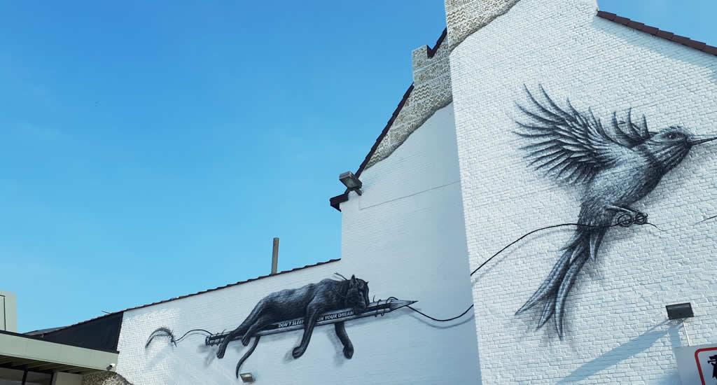Street art in Mons, België | Mooistestedentrips.nl