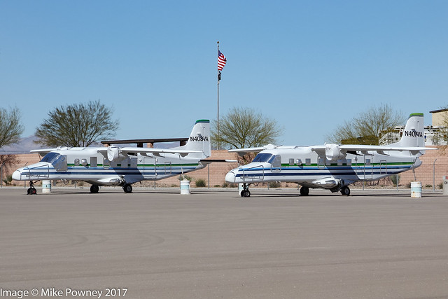 N407VA & N408VA - a pair of ex Saudi Ministry of the Interior Dornier 228s now sealed & stored by Vision Airlines at North Las Vegas