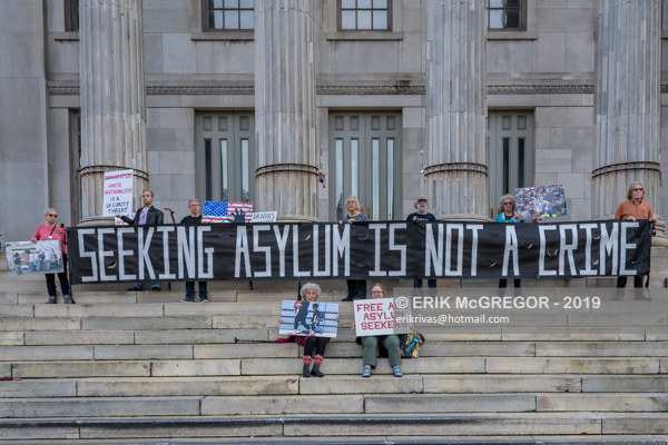 Rise and Resist silent protest at Brooklyn Borough Hall