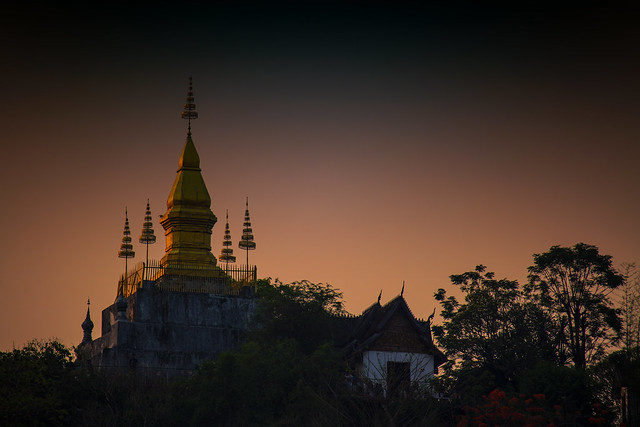 Phousi Hill In Luang Prabang, At Sunset