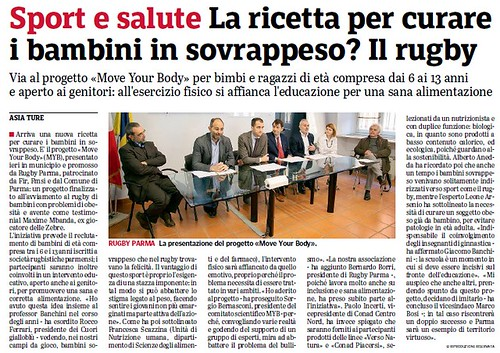 Gazzetta di Parma 17.04.19 - Move your body, conferenza stampa presemtazione progetto