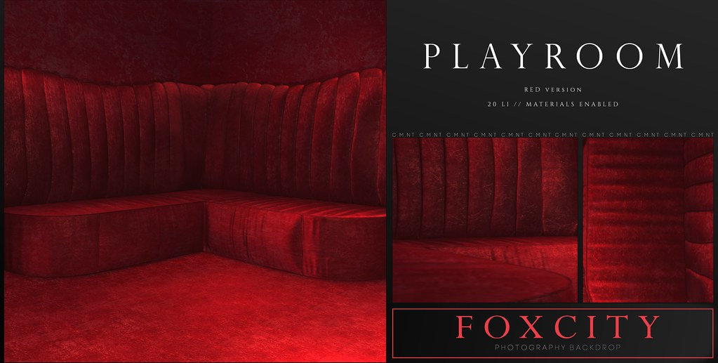 FOXCITY. Photo Booth – Playroom Red