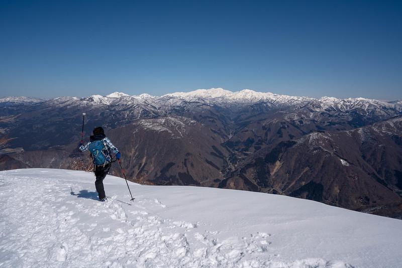 冬の白山連峰