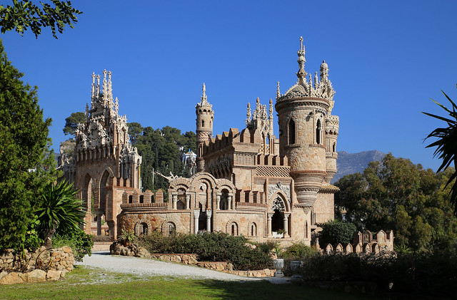 Colomares Castle in the south of Spain