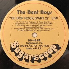 THE BEAT BOYS:BE BOP ROCK(LABEL SIDE-B)