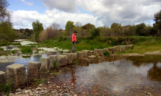 Stepping stones -- an archaic and perilous way to cross a river by bryandkeith on flickr