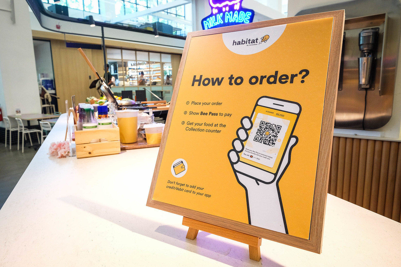 How to Order Signboard at Habitat by Honestbee