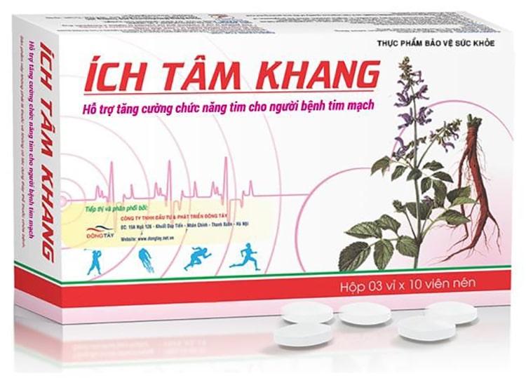 Trong số các sản phẩm hỗ trợ từ thảo dược, TPBVSK Ích Tâm Khang là sản phẩm tốt cho tim giúp hỗ trợ tăng cường sức khỏe trái tim.