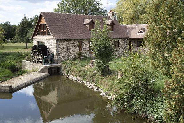 Le gué de Loré sur la Mayenne.