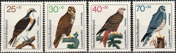 Známky Nemecko 1973 Vtáci, MNH CV $7.00