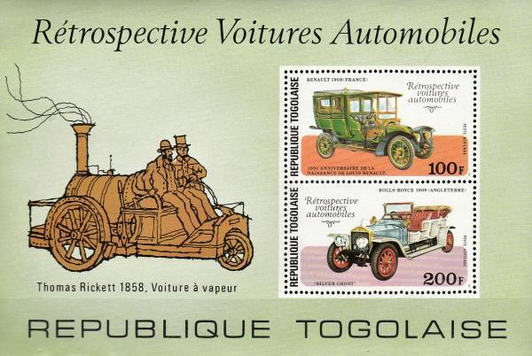 Známky Togo 1977 Automobily, MNH CV $5.00