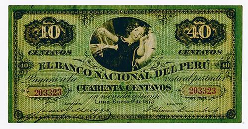 1873 Banco Nacional Del Peru Banknote