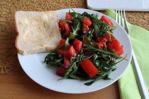 Tomaten-Rucola-Salat