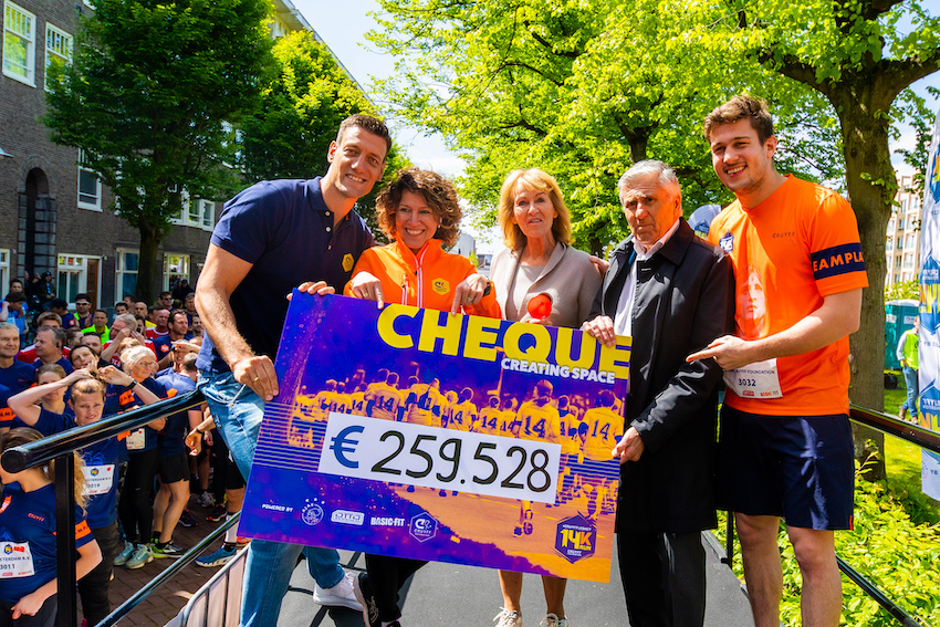 Cruyff Legacy 14K Run cheque