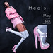 "$55L Thursdays at Heels Mainstore! ""Mary"" in pink"