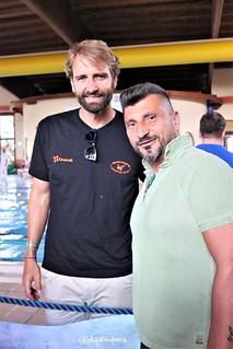 Il presidente Beppe Tatone con Massimiliano Rosolino