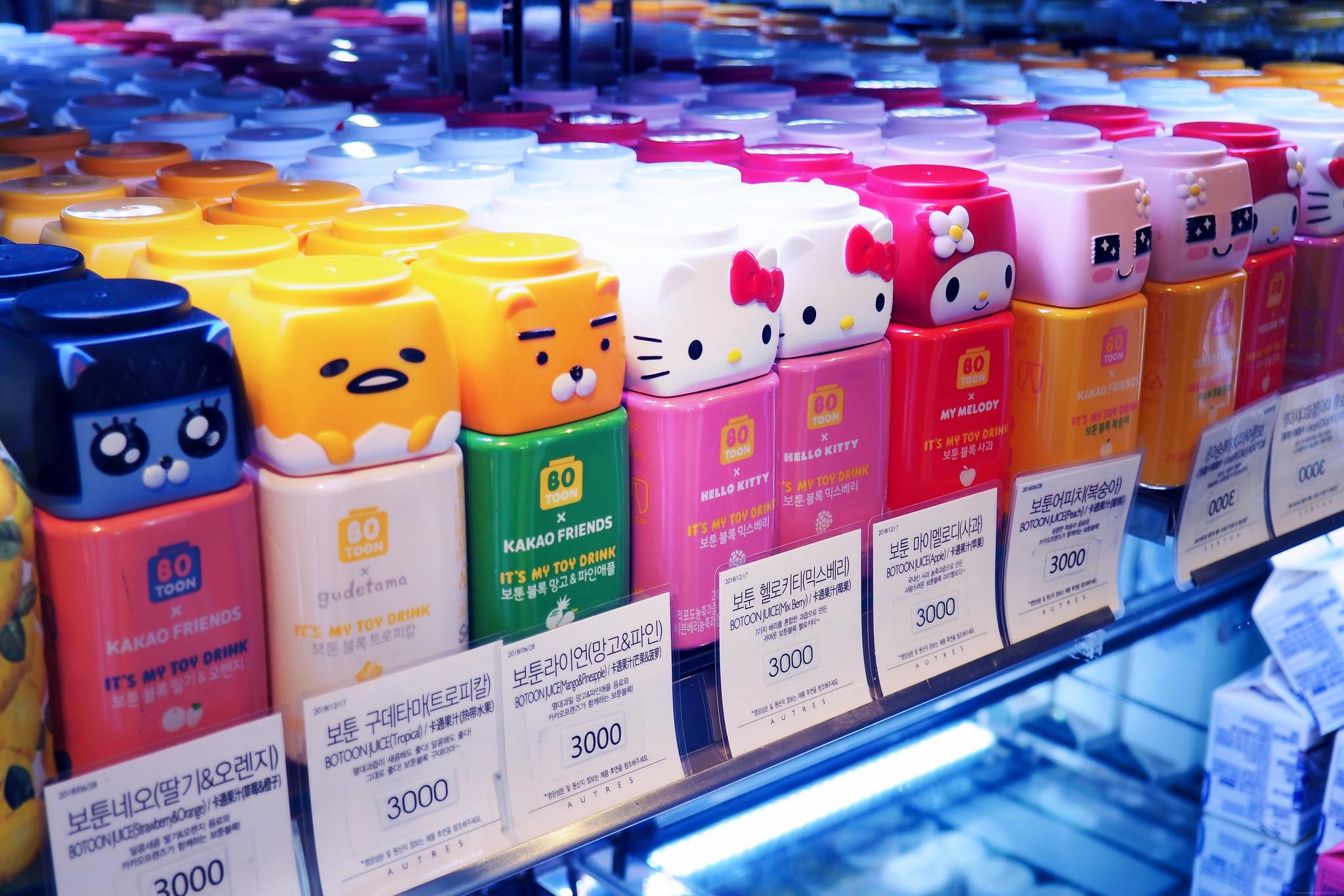 Cute Toy Drinks Seoul South Korea Halal