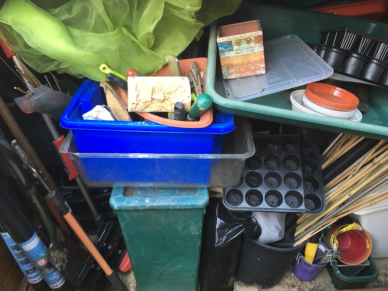 Gardening stuff in little shed