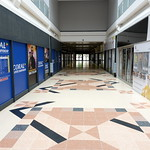 Virtually empty Preston Guild Hall