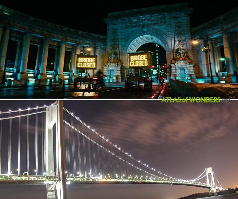Movie shooting Verrazzano-Narrows Bridge