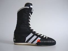 1998 VINTAGE ADIDAS BOX RIVAL BOXING HI SHOES / HI TOPS