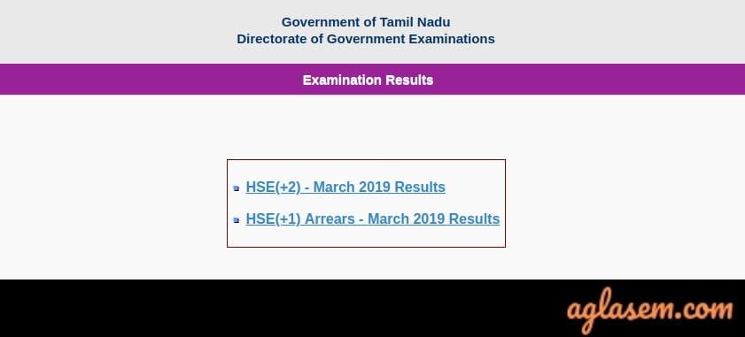 Tamilnadu 12th Result 2019