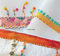 embroidered cloth pages